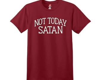 Christian Statement Tee - Not Today Satan