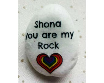 Gay pride Personalised  rocks/pebbles, you are my rock, keepsake gift, personalised keepsake pebble for gay, lesbian, lgbt