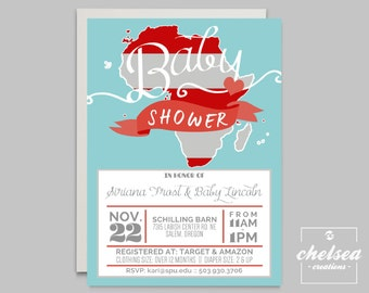 Adoption Baby Shower Invite
