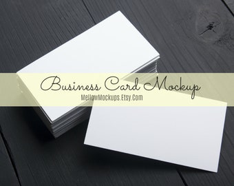 Business card mockup etsy business card mockup white business card blank business card mockup card product reheart Gallery