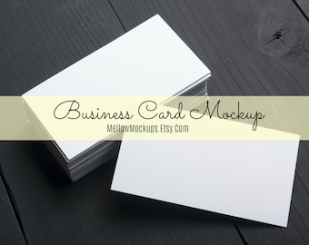 Business card mockup etsy business card mockup white business card blank business card mockup card product reheart