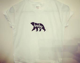 T-shirt, baby bear, cotton