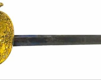 SWORD ~ GOLDEN KNIGHT ~ mexico officer's dirk 1825 brass mounts treasure