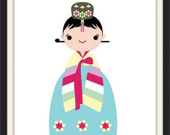 Our Korean Princess Hanbok Poster