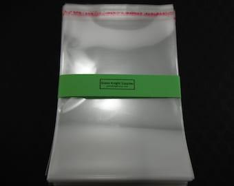 100 Pcs - Clear Resealable Cellophane Bags 12cm wide x 17cm long CB004