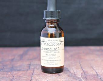 Bibliophile Beard Oil, Vegan Beard Oil, Men's Beard Care