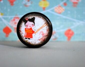 Kawaii Pill box / Chinese lantern / Powder Box / Storage Box / Jewelry Box / Coin Box / Wooden Boxes / Asian / Wood Boxes / Handmade