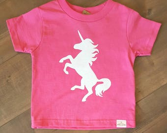 Glitter Unicorn - toddler T-shirt - ONE OF A Kind - child/baby accessories - size 2T