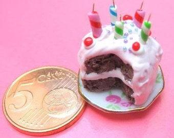 Barbie Dollhouse Miniature Birthday Cake