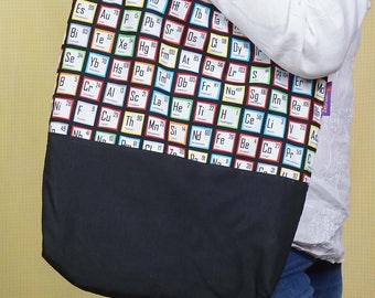 For Chemistry Lovers! Periodic Table themed Bag-in-a-bag - handy bag in its own pouch.