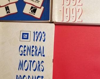 1991 1992 1993 GM General Motors Product Guide Books