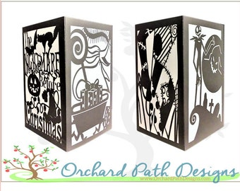 The Nightmare Before Christmas themed paper lantern for Disney themed weddings, birthday, shower, party