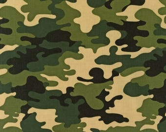 Camo Fabric / Camouflage Fabric / Robert Kauman Patriots 6165 Jungle Fabric / Camo Fabric By The Yard, Fat Quarter, 1/2 Yard