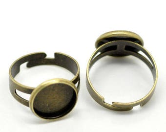 10 support ring adjustable Bronze Ring 12mm