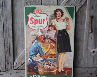 Canada Dry Spur Cola Store Display Cardboard Advertising Sign