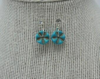 Teal Star Earrings