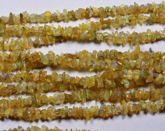16 Inch Strand-5-7mm-Beautiful-Rare Multi Fire Play Ethiopian Welo Opal Beads-Untreated Natural(3340-41)