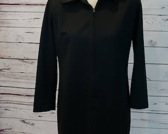 Vintage Black Collared Dress