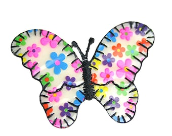 """Butterfly 2.5"""" X 1.5"""" Iron on Patch Applique Motif Embellishment Accessories Craft Supplies CF_Flower fab_butterfly"""