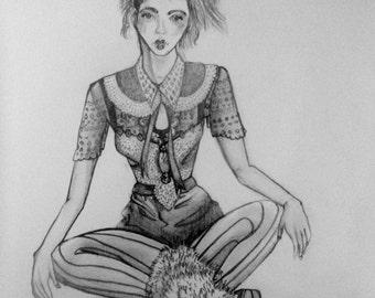 Grey-led Illustration