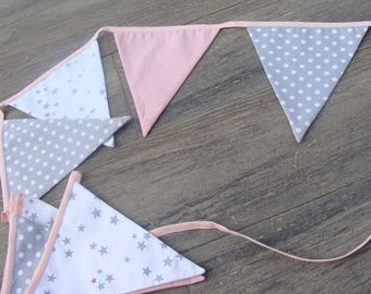 Garland fabric flags plain polka stars
