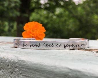 "Gregg Allman memorial bracelet ""and the road goes on forever"" from ""midnight rider"" 
