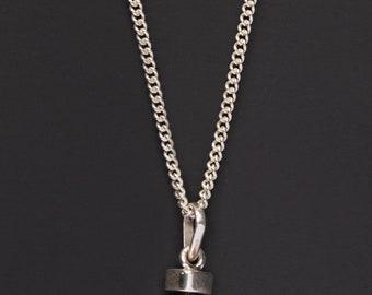 Black Tourmaline necklace for men - gemstone necklace for men - natural tourmaline pendant - silver tourmaline pendant - sterling silver