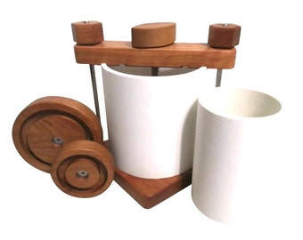 Ultimate Cheese Press with Hard Cherry Wood