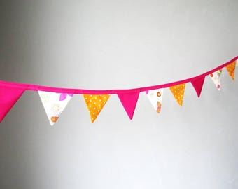 Bunting in pink and orange