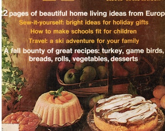 Vintage Better Homes and Gardens Magazine | November 1972 Issue | Sew It Yourself and Craft Ideas