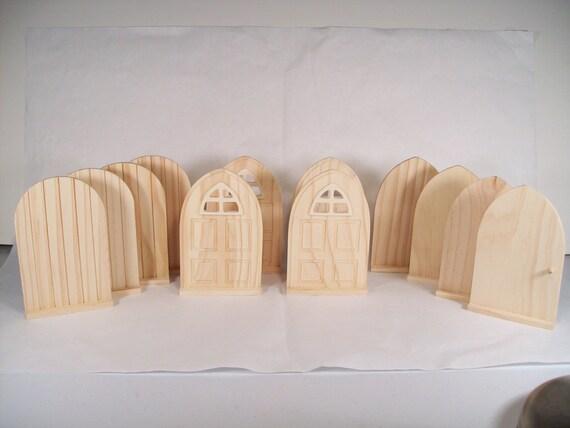 Set Of 12 Diy Fairy Door Or Tooth Fairy Door Unfinished Wood