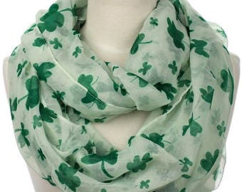 St Patrick's Day Clover Infinity Scarf