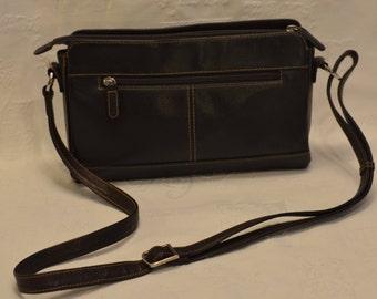 Vintage PICARD Leather shoulder bag Italian messenger Bag Leather Crossbody Bag Leather Shoulder bag Leather satchel leather Business Bag