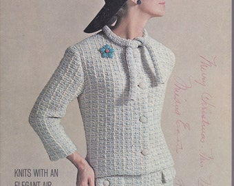 Unger Vol. Xv Knits With An Elegant Air + 1964 + Vintage Knitting Patterns