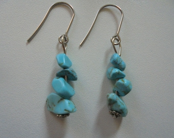 The Crystal healing Turquoise earrings