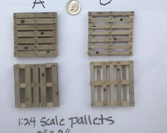 "1:24 Scale Miniature Pallet 2"" x 2"" Dollhouse Diorama"