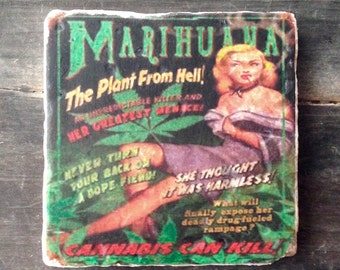 Marihuana The Plant From Hell (Vintage Pulp Novel) Tile