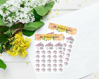 Courrier de planificateur autocollants II Mail heureux autocollants II paquet sticker II Mail icônes - icônes de Happy Mail