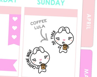 Coffee Lula Stickers / Planner Stickers