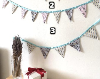 Bunting fabric banners / bunting fabric flags / nursery decor / new baby gift / baby shower decoration / nursery garland / newborn gift