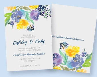 Spring/Summer Printable Wedding Invitation Suite