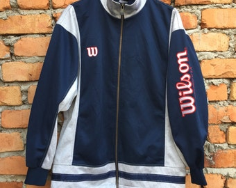 Vintage WILSON big logo and spellout sweater training jacket