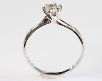 Diamond Engagement Ring 0.40 ct-Solitaire ring-14K white Gold -Women Jewelry-Promise ring-Bridal Jewelry-Anniversary-Wedding & Engagement