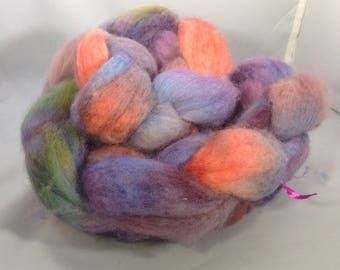 "Bfl handdyed roving ""melted crayons"" 4oz"