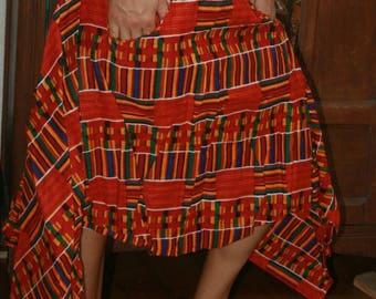 skirt unique asymmetric Senegalese wax