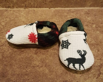 Chaussons de renne de Noël