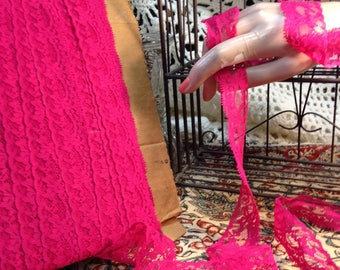 Lace Trim By The Yard Hot Pink