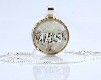 Dandelion  Necklace- Wish Necklace -Terrarium  Necklace - Wishes Necklace - Resin Sphere Necklace-Dandelion Jewelry-Resin Flower Pendant