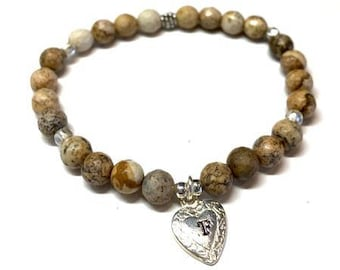 Picture Jasper Charmed Bracelet (includes an additional charm of your choice)