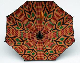 Umbrella – African cloth Design/African Print/Toghu GRAFFI/Kente KUMASI/Double Layer